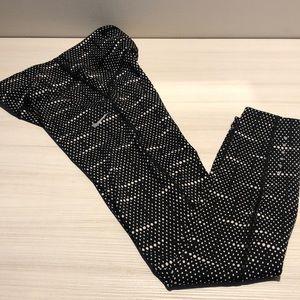 Nike Dri Fit Leggings Polka Dot Black White XS
